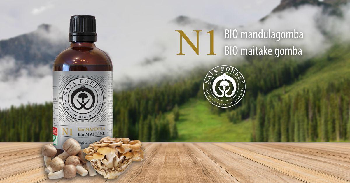 Naja Forest N1 bio Maitake, bio Mandula Étrend-kiegészítő