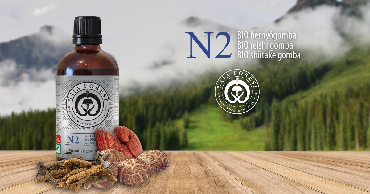 Naja Forest N2 bio Cordyceps, bio Reishi, bio Shiitake Étrend-kiegészítő