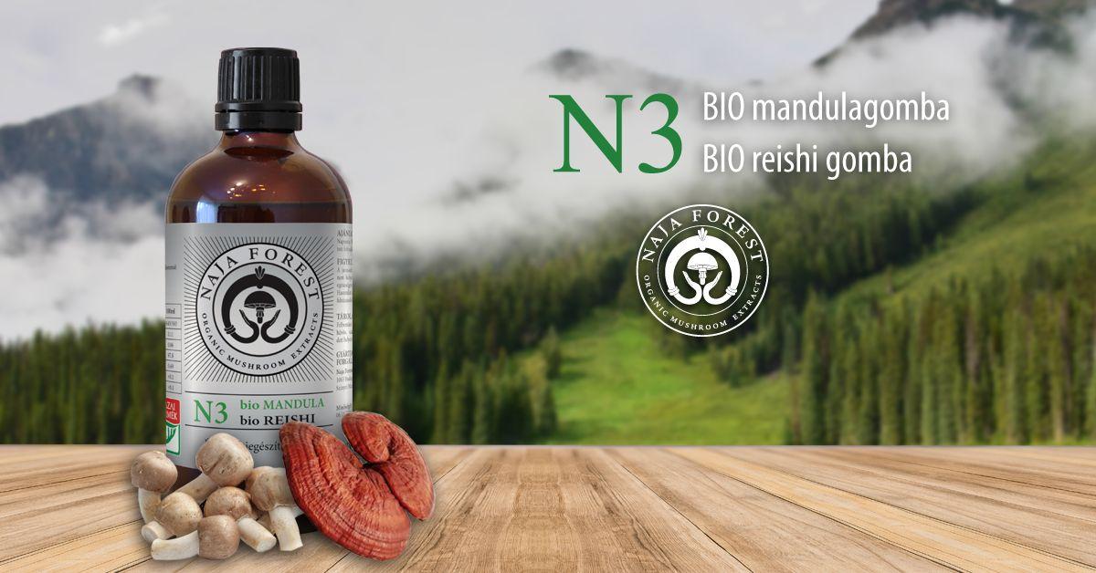 Naja Forest N3 bio Mandula, bio Reishi Étrend-kiegészítő