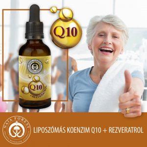 Q10+ Rezveratrol egy kiemelkedő biohasznosulással rendelkező-, folyékony étrend-kiegészítő készítmény