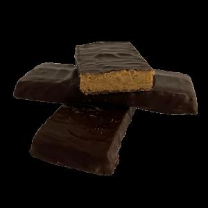 Földi mandulás csemege szeletek belga csokiban süngomba hozzáadásával és kókuszvirág cukorral