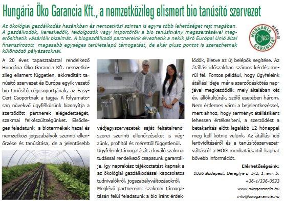 Naja Forest Kft. az Agrármagazinban
