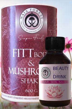 Egészséges Fittség Hölgyeknek: Fitt & Mushroom Shake és Beautyluxdrink